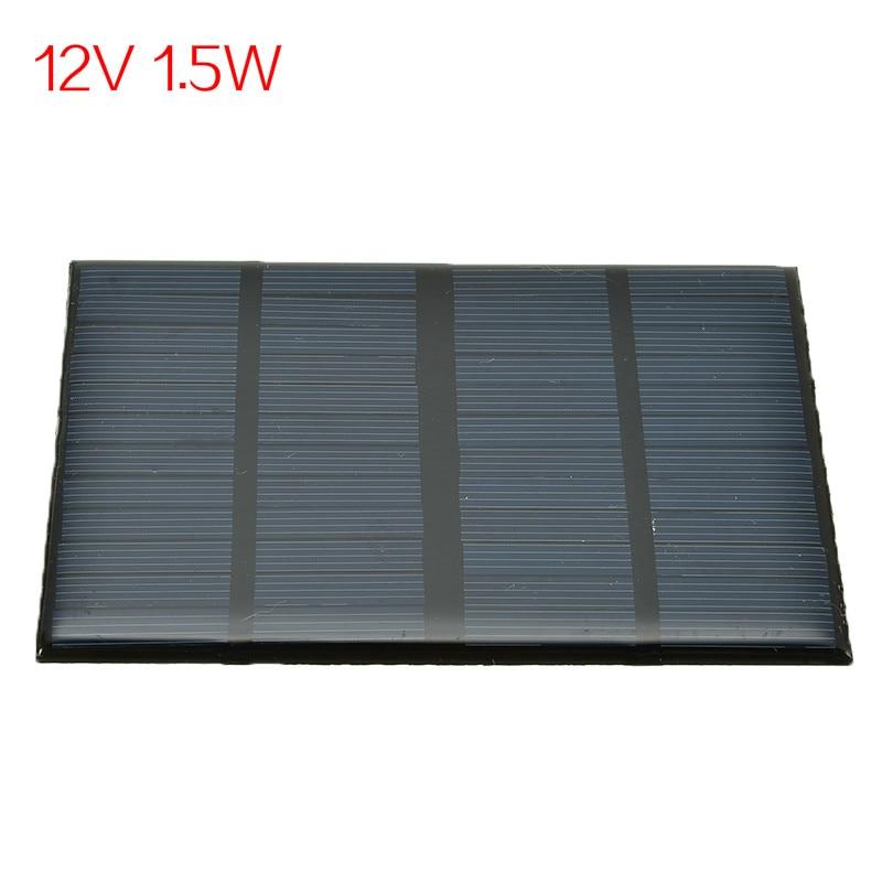 12В 1,5 Вт солнечная панель Стандартный эпоксидный поликристаллический кремний DIY батарея заряд энергии Модуль Мини Солнечная батарея зарядная плата|Солнечные элементы|   | АлиЭкспресс