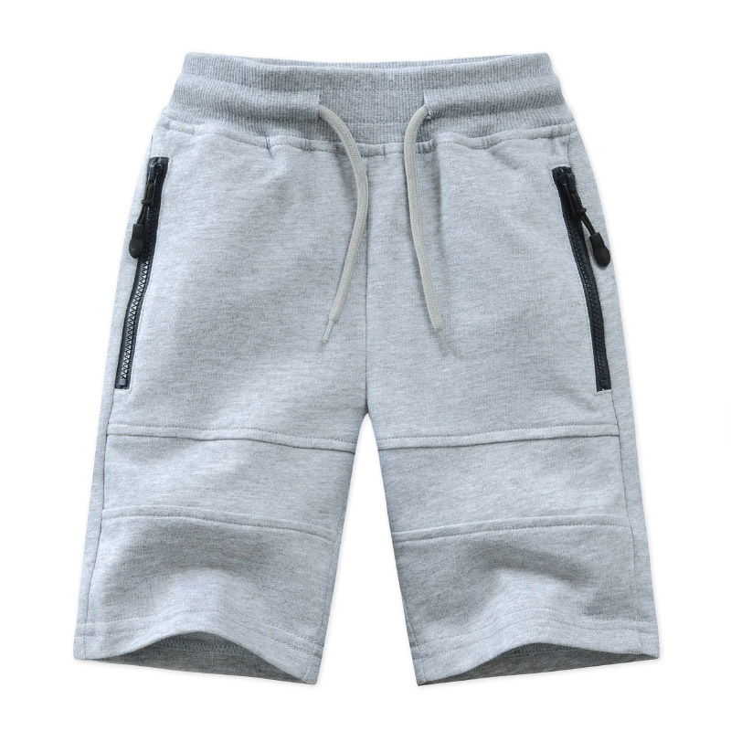 Children Boys Shorts 2021 Summer Zipper Pocket Design Kids Casual Knitted Shorts For Boys 3 4 6 8 10 12 14 Years Clothing Dwq240 5