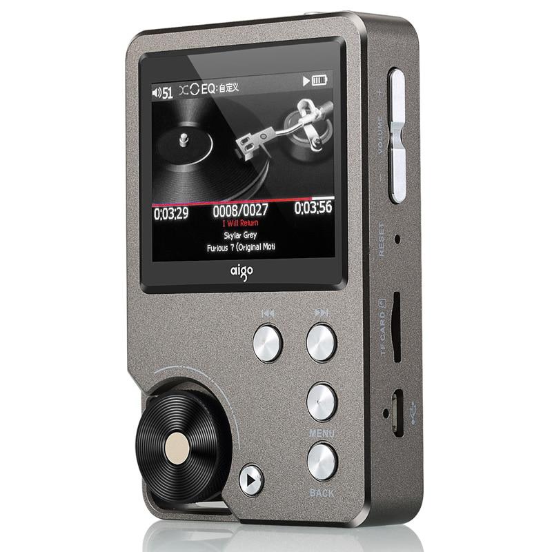 Aigo MP3-105 lecteur de musique Hifi sans perte Mp3 avec écran WM8965 Mini lecteur Mp3 Portable haute résolution Flac lecteur de Sport DSD Audio USB