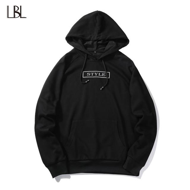 USA SIZE 2018 Autumn Winter Hoodies Letter Printed Mens Hoodie Sweatshirt Casual Long Sleeve Slim Fit Hooded Jacket Sportswear