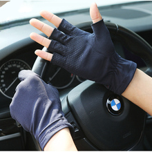 Spring And Summer Thin Section Breathable Sweat-Absorbent Gloves Female Half Finger Non-Slip Driving Couple Gloves Male SZ005-5 стоимость