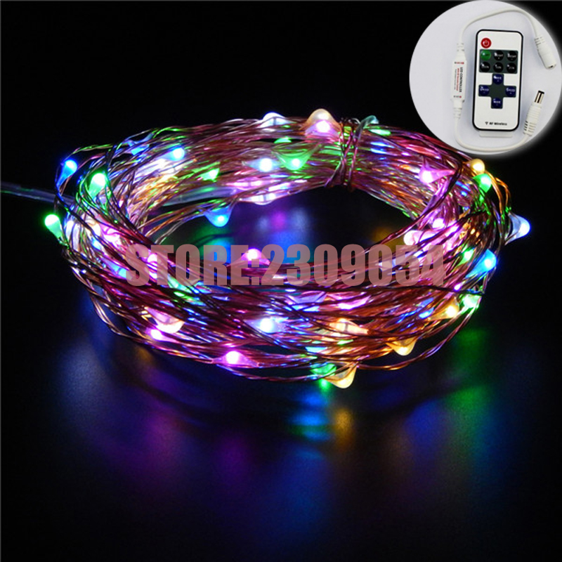 66FT / 20M 200 ledninger Kobber Wire Hage LED String Starry Light - Ferie belysning - Bilde 4