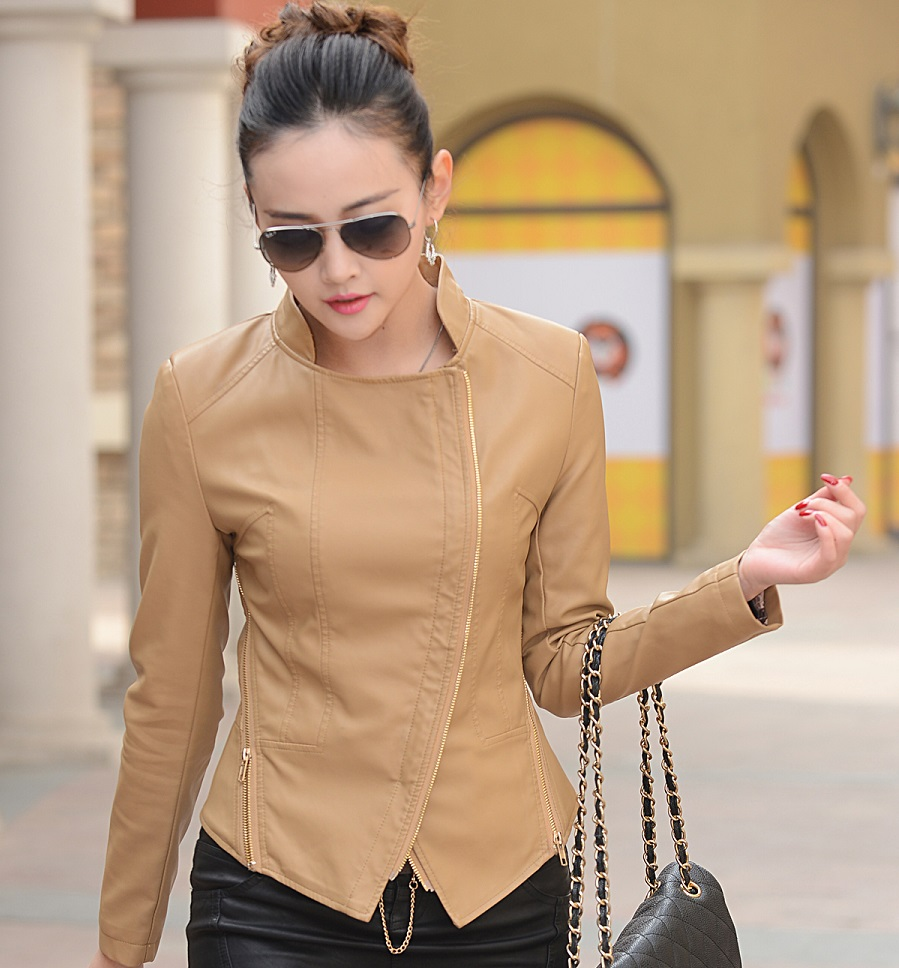 Outfit veste kaki - Tenue cuir femme ...