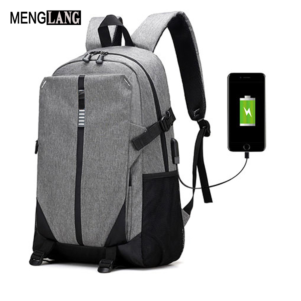 Teen USB Charge Schoolbag Male Laptop Back pack Women Canvas Men Backpack Fashion High School Bags for Teenage Book Bag Boys