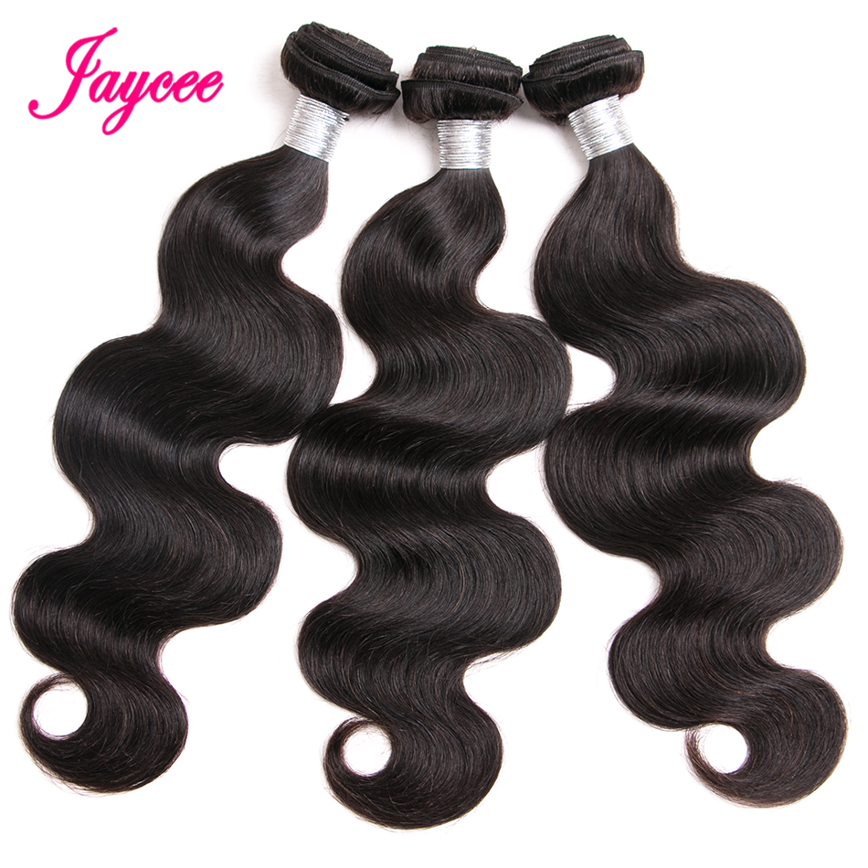 Jaycee Hair Malaysia Body Wave Natural Color Remy Hair 100% Human Hair Weave Bundles Extension Suitable Dying All Colors