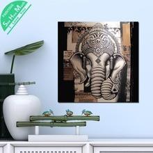 1 Шт. Свободный Лорд Ганеша Вуд HD Печатных Холст Wall Art Плакаты и Принты Плакат Живопись  Лучший!