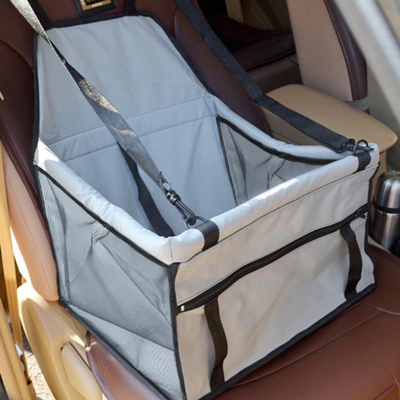 Pieghevole Pet Dog Cat Car Seat Sicurezza Viaggi Carrier Canile Cucciolo Della Borsa Mesh Traspirante Faccia con Interno Borsa Fune di Trazione