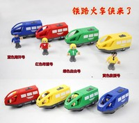 4 Colors Baby Electric Magnetic Train With Dolls Kids Children Christmas Gift Child Plastic Battery Slot