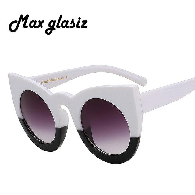 Max glasiz Cateye Vintage 2018 Nova Oversized mulher óculos escuros de grife  marca óculos de Sol 6833131726