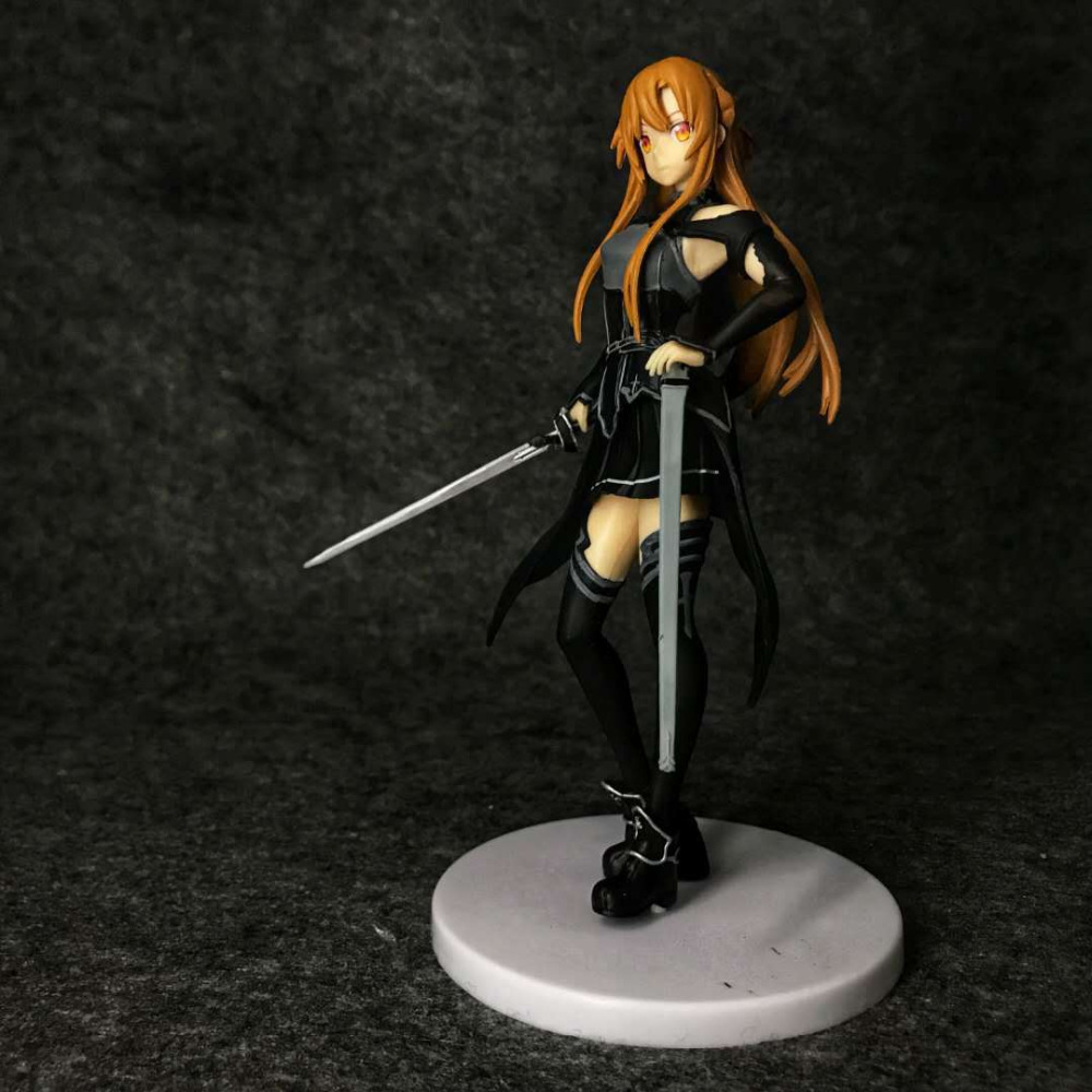 Sword Art Online Yuuki Asuna Stand Figure SAO Girl Collection Toys No Box 18cm