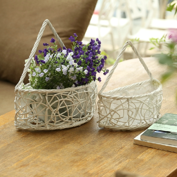 Semicircle On The European Door Hanging Flower Baskets Past Willow Basket Wall Decorations Small