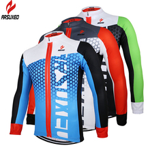 цена на ARSUXEO MTB Road Bike Bicycle ciclismo Quick Dry Jersey Outdoor Sports Clothing Men's Breathable Long Sleeves Cycling Jersey