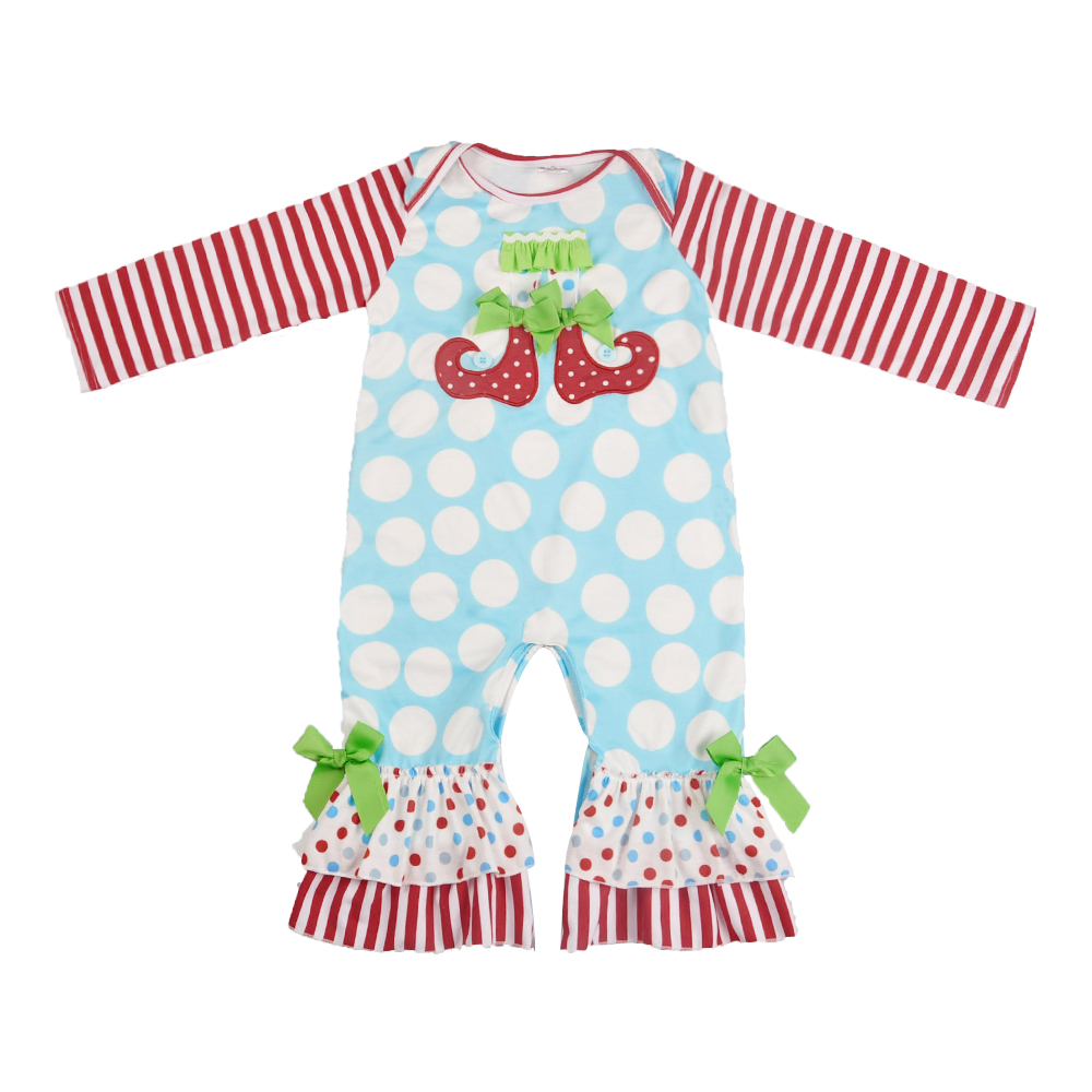 Baby Girls Boutique clothes Newest Design Remake Baby   Romper   Popular Infant Ruffle Clothing Embroidery Newborn Baby Girl   Romper