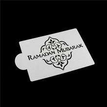 Tools Cake-Stencil Ramadan Decoration-Tool Kitchen-Accessories Baking DIY Pastry Text