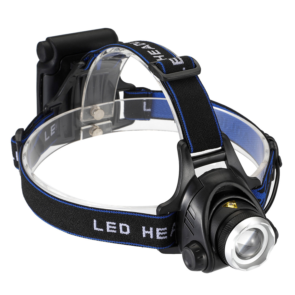 cheapest Outdoor Lighting 4 AA Dry Battery High Power Head Lights Camping LED Headlamp 3 Modes Zoomable Head Lamp