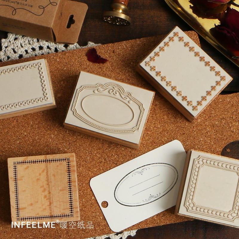 Vintage Label Pattern Decoration Stamp Wooden Rubber Stamps For Scrapbooking Stationery DIY Craft Standard Stamp