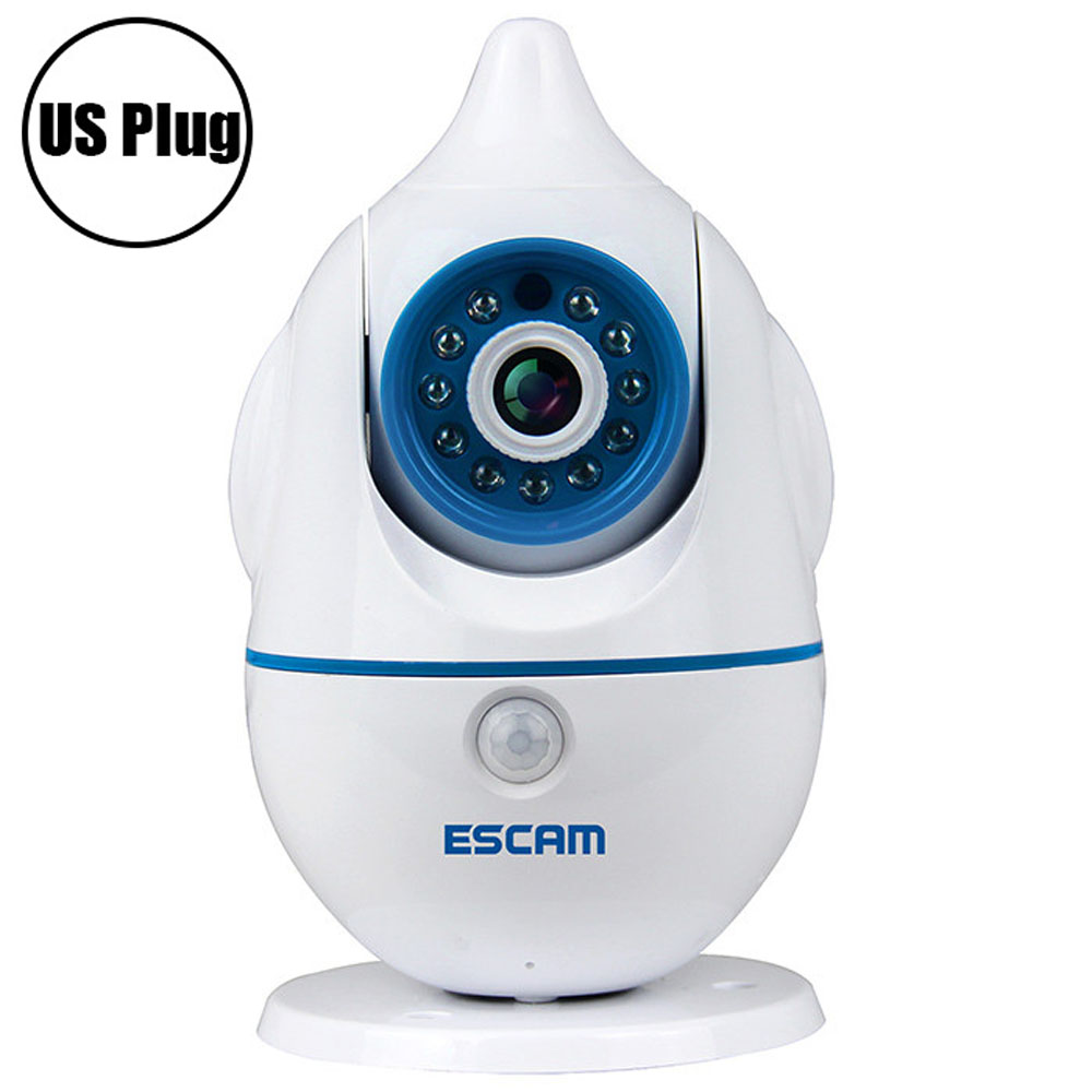 ESCAM Penguin QF521 Wireless WiFi Baby Monitor 1.0MP Support Two-way Audio Pan/Tilt Rotation IP Camera пинетки митенки blue penguin puku