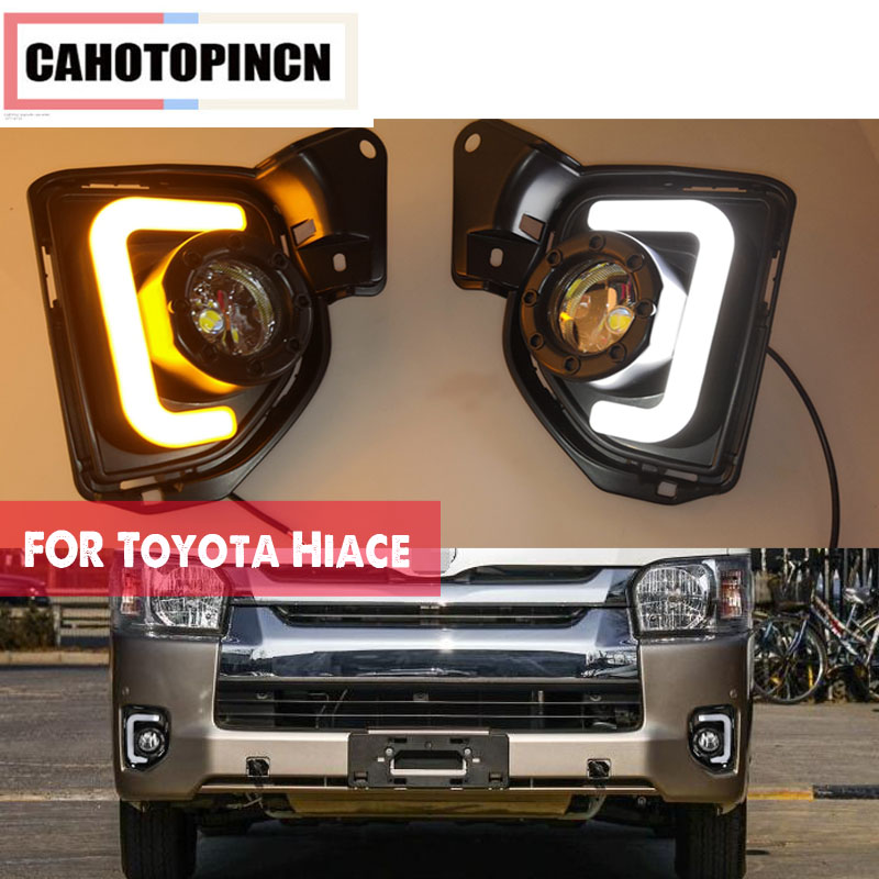 2PCS For Toyota Hiace 2014 2015 2016 2017 2018 12V Car LED DRL Daytime Running Light