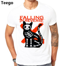 100% Katoen Falling In Reverse Druipen Lippen T-shirt Rock Band Ronnie Radke Ontwerp Tops Soft Tee(China)