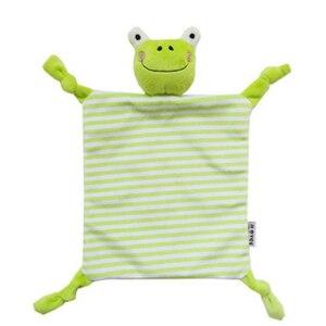 Image 4 - Noworodek maluch dzieci pluszowy ręcznik zabawka kot kreskówkowy królik grzechotka zwierzątko zabawka dziecko śpiące noworodka wypchane lalki komfort ręcznik