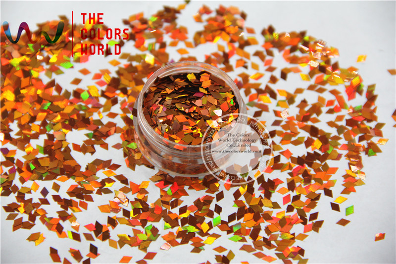 TCA401 Laser Holographic Light Copper Colors Diamond shape 3MM Size Glitter for Nail Art and DIY