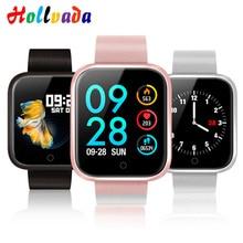 Hollvada для женщин Смарт часы браслет с приборы для измерения артериального давления сердечного ритма мониторы Шагомер фитнес трекер Smartwatch