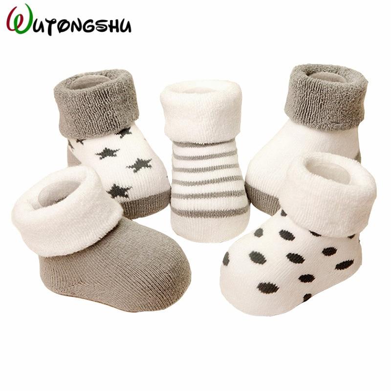 5 Pairs /3 Pairs Lot Baby Socks Calcetines Spring Baby Boy Socks Newborn Winter Cotton Girl Warm Sock Meias Bebe 0-24M