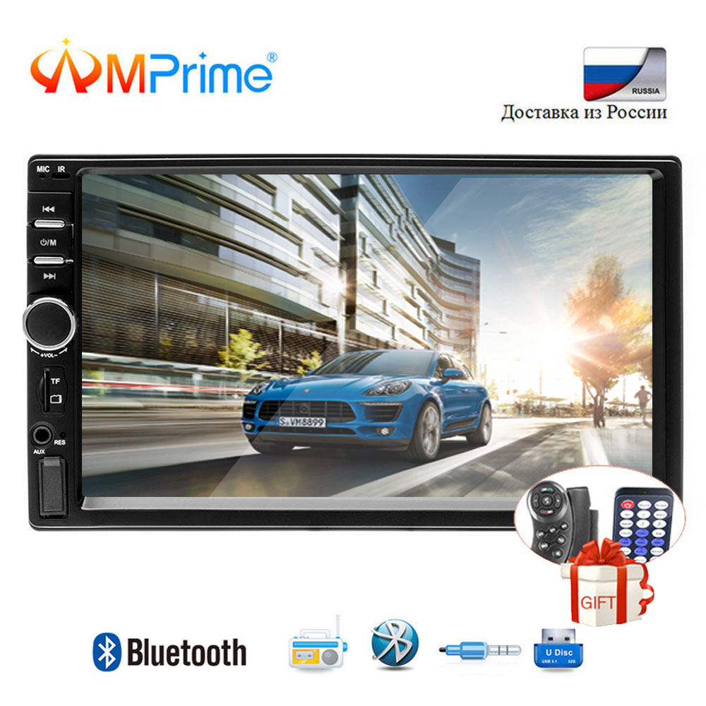 AMPrime 7018B 2 Din Car Radio HD Autoradio LCD Touch Screen Car Stereo MP5 Player Support