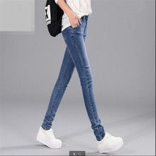 2016Autumn New Fashion Jeans Female Little Pencil Pants Stretch Cultivate one's morality Long Pants Han edition Tide Joker G1379