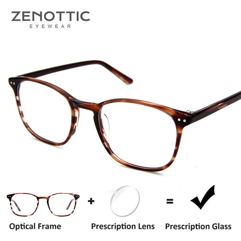 100% Kwaliteit Zenottic Retro Klinknagel Recept Bril Vrouwen Leopard Frame Optische Bijziendheid Brillen Meekleurende Anti-blue-ray Bril Matching In Kleur