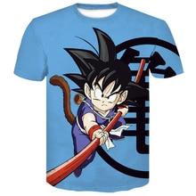 New Dragon ball z Super Saiyan Son Goku Summer 2019 Fashion men women 3D Print Harajuku Funny tshirt Hip Hop Short Sleeve