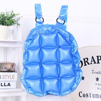 Fashion Inflated Women Jelly Backpack Summer PVC Waterproof Candy Beach Bag Girls Travel Blow Up School Bag Diamond Shoulder Bag