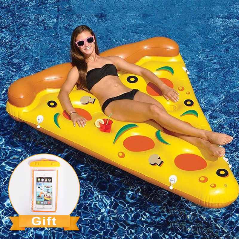 Giant Inflatable Pool Floating 180*150cm Summer Water Swimming Ring For Adults Party Toys Beach Lounger Air Mattress Raft Pizza