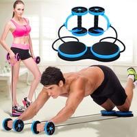 Ab Roller Wheel Abdominal Muscle Trainer Double Power Wheel Gym Arm Waist Leg Training Bodybuilding Exercise Fitness Equipment