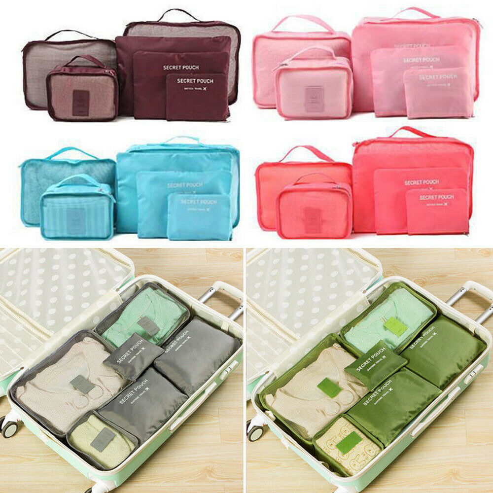Bag Underwear Packing Luggage-Organizer Cube-Storage Letter Travel New-Style Zipper 6pieces