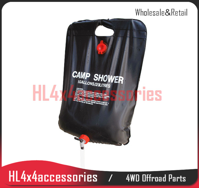 outdoor solar shower <font><b>bag</b></font> 20L camping washer Heated water traveling bathing <font><b>bag</b></font> offroad accessories 4x4 accessories
