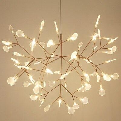Современный Heracleum кулон в форме листика дерева светильник светодиодный светильник подвесные лампы Гостиная Искусство бар железное Освещен...
