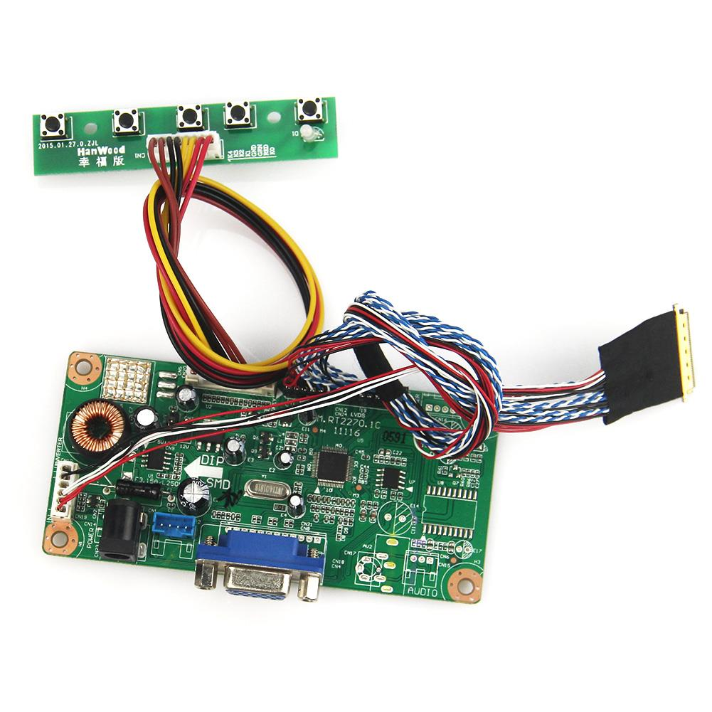 M.RT2270 LCD/LED Controller Driver Board(VGA) For PQ101WX01 HSD101PWW1-A00  1280x800 LVDS Monitor Reuse Laptop