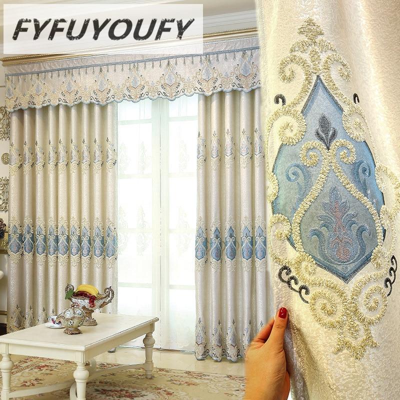 Europäischen Luxus Vorhänge Für Schlafzimmer Fenster Vorhänge Stile Für  Wohnzimmer Elegante Vorhänge Europäischen Vorhänge Schatten Vorhänge
