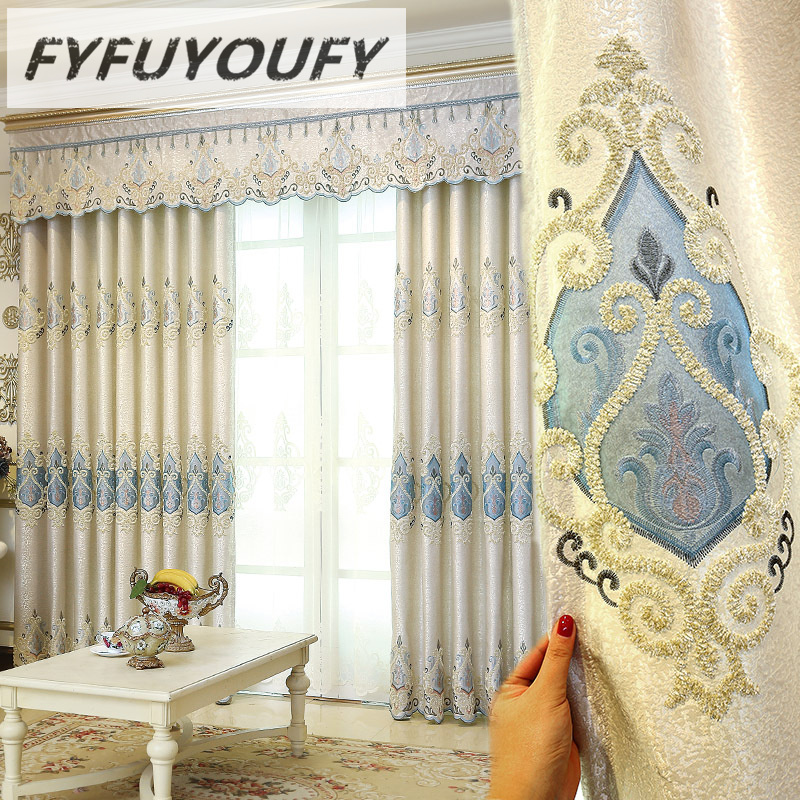 European Luxury Curtains For Bedroom Window Curtains Styles For Living Room Elegant Drapes European Curtains Shade Curtains Curtains Aliexpress