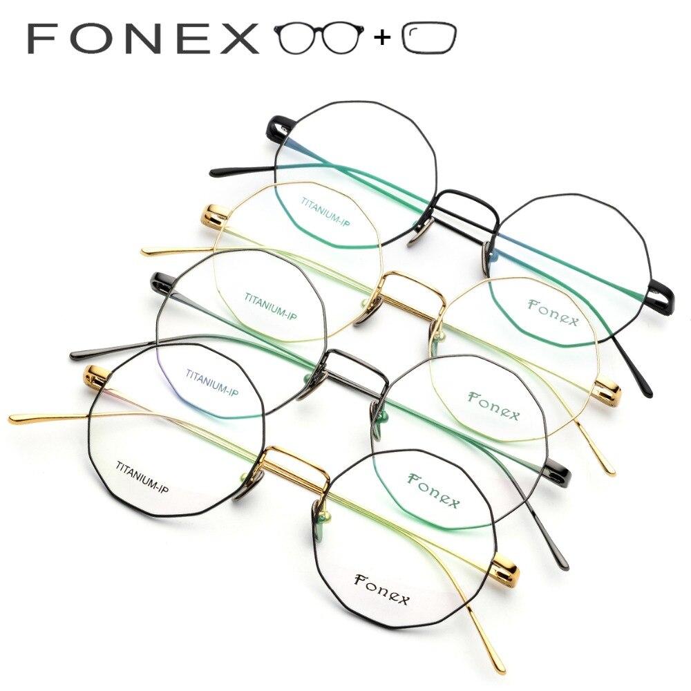 Männer Polygon Titan Voller Optische Vintage Frauen Myopie Rahmen 2019 Brillen Reinem Koreanische Ultraleicht 1an0Uqn4