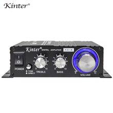 Kinter K3118 HIFI amplificador de áudio classe D 2.0 canais com tpa3118 digital chips ic 20 w * 2 ajustar os graves agudos jogar som estéreo