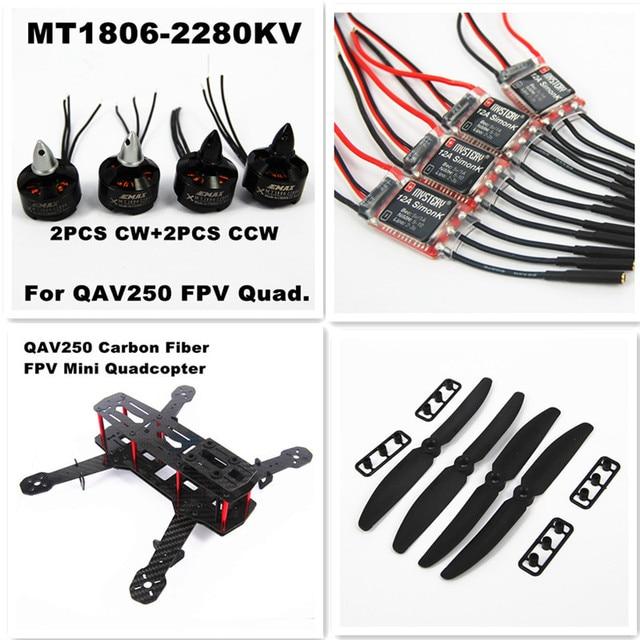 Blackout QAV250 Carbon Fiber Mini 250 FPV Quadcopter Frame Combo,1806 2280KV Motor,12A Simonk ESC,5030 Propeller(Unassembled)