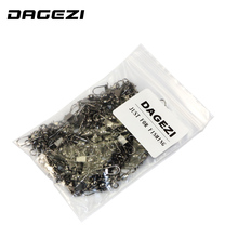 DAGEZI 100pcs/lot swivels interlock snap  winter fishing gear accessories Connector copper swivel fishing tackle