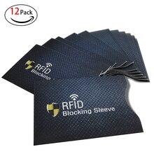 12 pcs RFID Credit Card Holder Sleeve Protective Shield Smart Fit Men Women