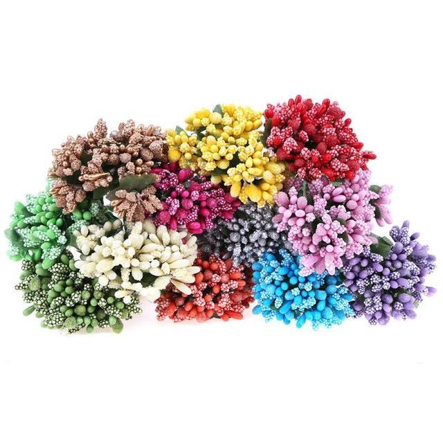 12pcs Dried Artificial Stamen Flowers DIY Scrapbooking Garland Fake Flower For Wedding Decoration flowers