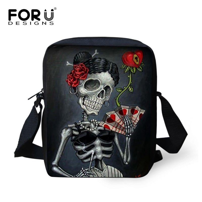 FORUDESIGNS Cool Punk Skull Prints School Bags For Baby Boys Girls Casual Children Small Book Shoulder Bags Kindergarten Mochila in School Bags from Luggage Bags