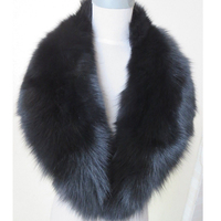 Real Fox Fur Collar Women 100 Natural Fox Fur Scarf Winter Warm Fur Collar Scarves Black