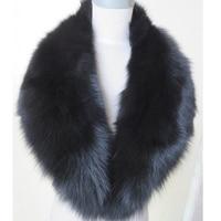 Real Fox Fur Collar Women 100 Natural Fox Fur Scarf Winter Warm Fur Collar Scarves Black