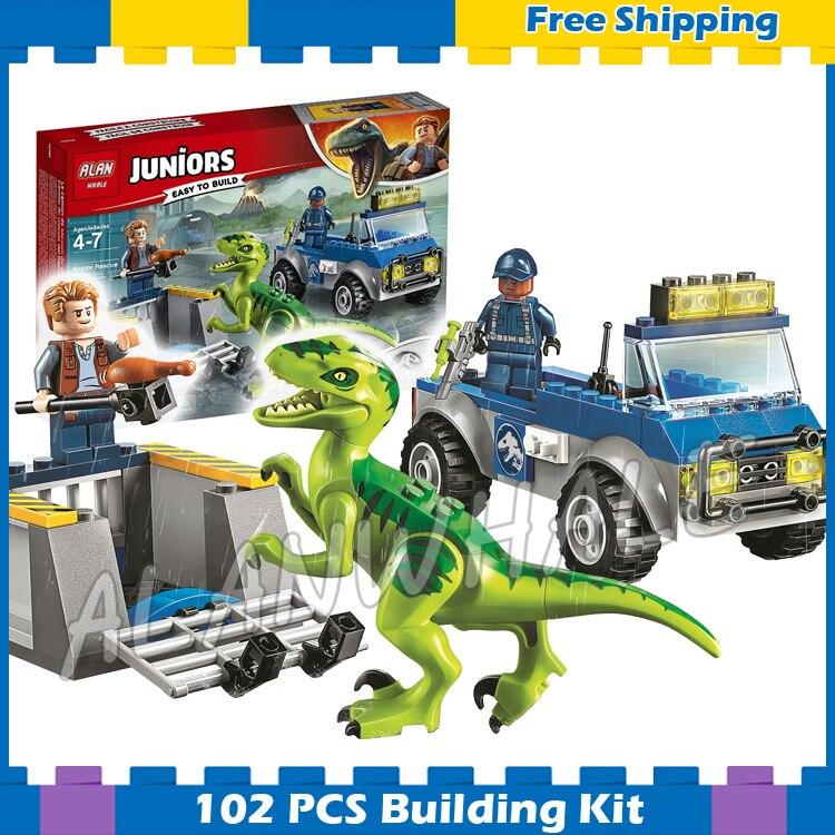 New LEGO Set Juniors Jurassic World Raptor Rescue Dinosaur Gift For Birthday Toy